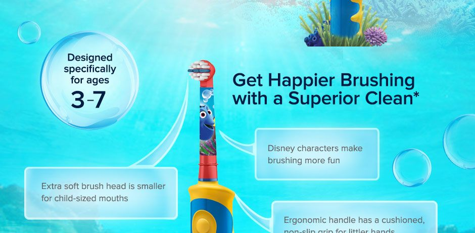 Disney's Finding Dory Electric Toothbrush for Kids Ages 3 To 7