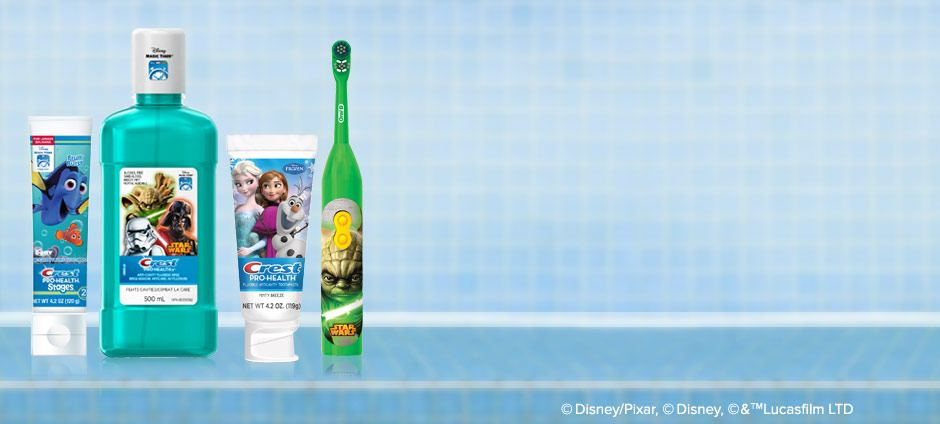 Oral Care Products Featuring Disney and Star Wars Characters