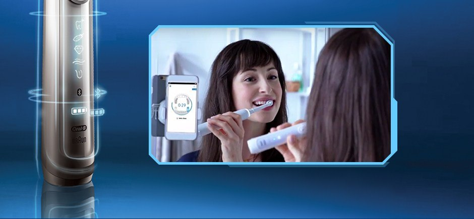 THE INTELLIGENT BRUSH FOR CLEANER TEETH AND HEALTHIER GUMS.*
