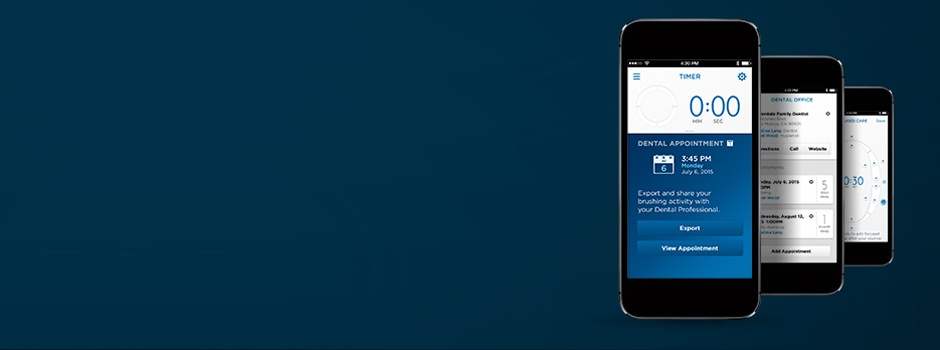 Program your teeth brushing routine with Oral-B App