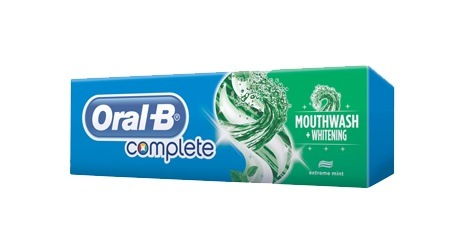Oral-B Complete Mouthwash & Whitening toothpaste