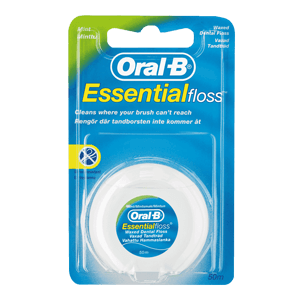 Oral-B Essential dental floss waxed, mint