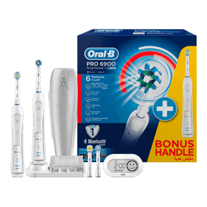 Oral-B PRO 6900 SmartSeries CrossAction Rechargeable Electric Toothbrush with Bluetooth Connectivity