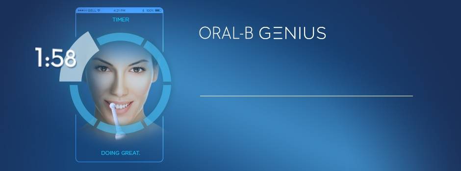 ORAL-B GENIUS  INTELLIGENT BRUSH. SUPERIOR CLEAN.*